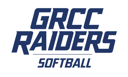 GRCC Raiders logo with Softball written underneath.