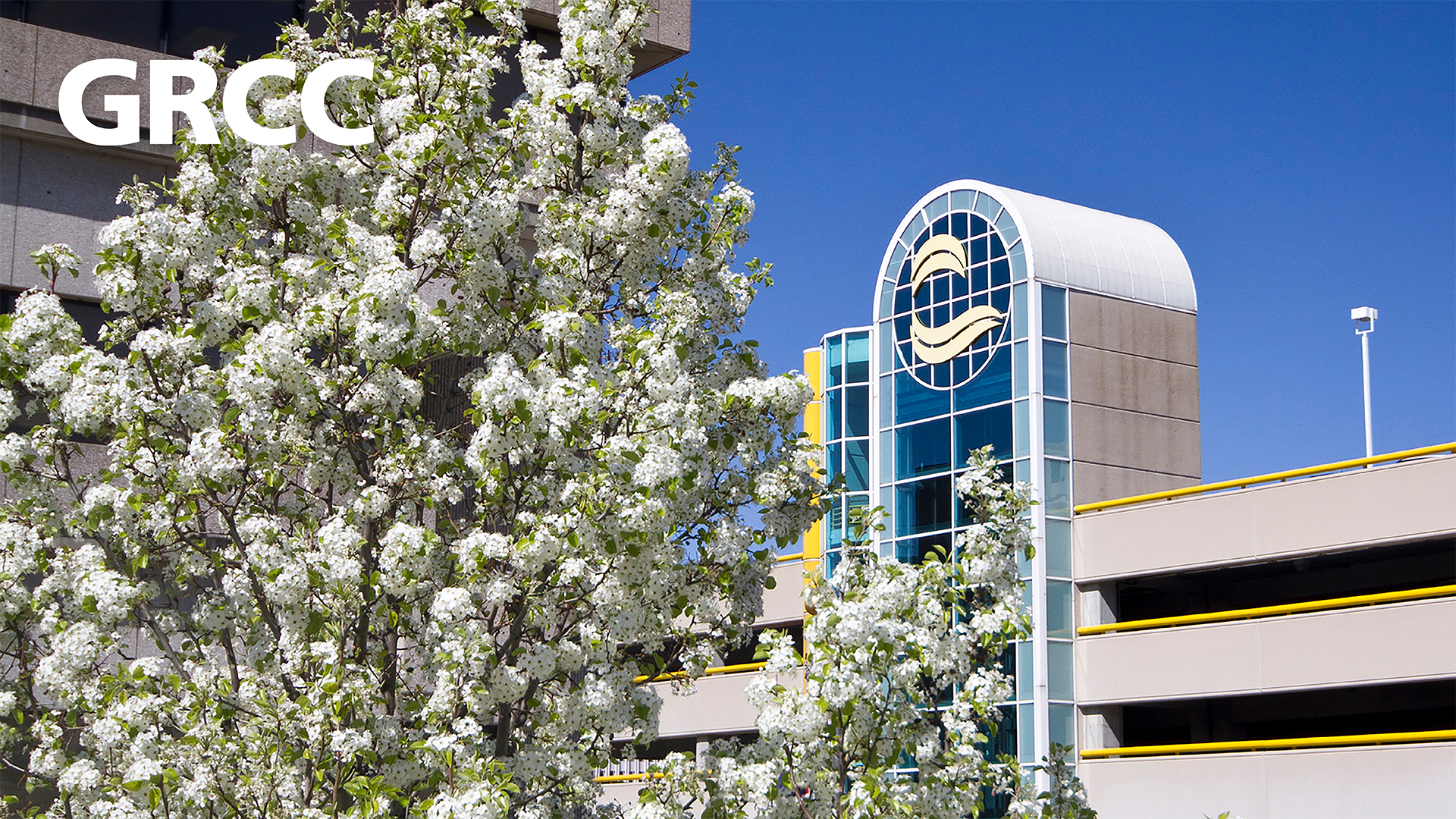 GRCC campus in the spring