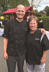 Jill Simon and Chef Jacob Tracy