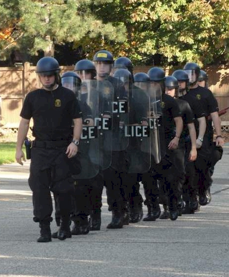 Criminal Justice Students in Riot Gear