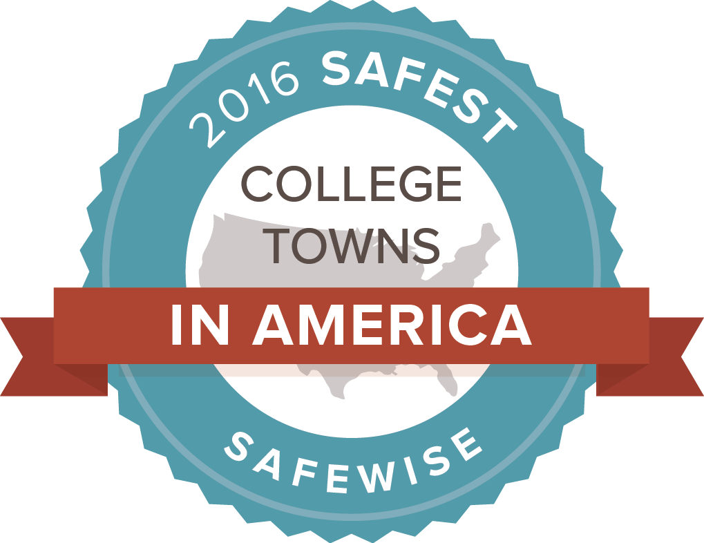 2016 Safewise safest college towns in America