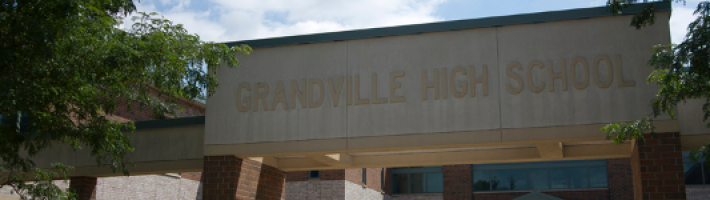 Entrance to Grandville High School