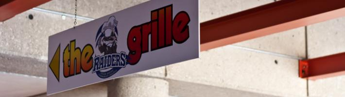 The Raider Grille sign