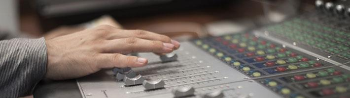 Mixing Board in Recording Studio