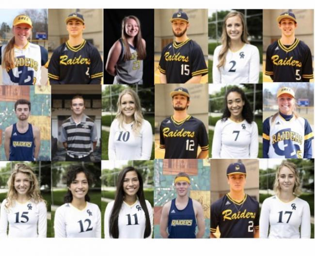 A collage of GRCC student-athletes who have earned national All-Academic Team honors from the NJCAA.
